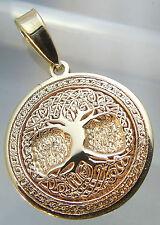 Anhänger Keltisch Lebensbaum *Celtic Tree of life* Amulett Gold 14 karat (585)