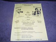 DOUG LAZY-MC SMOOTH 1990 HIP HOP Concert FLYER.. SATELLITE LOUNGE COOKSTOWN NJ