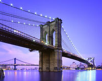 New York BROOKLYN BRIDGE Glossy 8x10 Photo Print Wall Art Poster