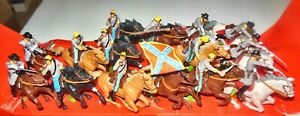 15 BRITAINS CONFEDERATE CAVALRY DEETAIL 7489 MADE IN ENGLAND 1971 1/32