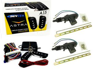 Scytek A15 Keyless Entry Car Alarm Security System, 2 Key Fob 2 Door Locks