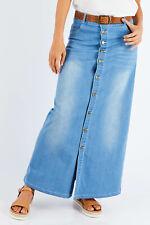NEW boho bird Womens Long Skirts Dusty Footprints Button Skirt - Skirts