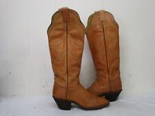 Hondo Boots Light Brown Leather Tall Cowboy Boots Womens Size 5.5 B Style 7950