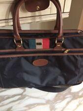 Vintage LARK Luggage Carryon Boarding Bag Black Nylon & Leather + Sh/Strap 1996