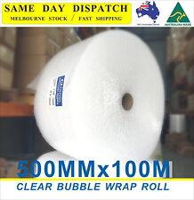 500mm x 100M Bubble Wrap Roll P10 10mm Bubbles Clear BubbleWrap NEW 100meter