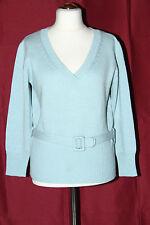 Damen Pullover Wolle, mit Strick Gürtel Gr. 44 Apart TOP Design u. Qualität!!