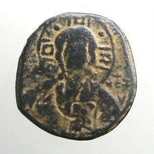 ROMANUS III / ANONYMOUS BRONZE AE30 FOLLIS____Bust of Christ____BYZANTINE EMPIRE