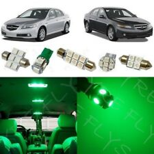 15x Green LED Interior Lights Package Kit fits 2004-2008 Acura TL + Tool AL1G