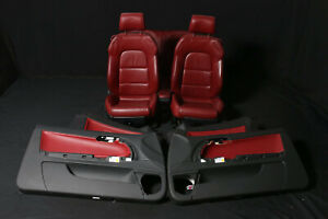 Audi A3 8P 8P7 Cabrio Sportsitze Leather Trim Leather Innenausstattug Red Seat