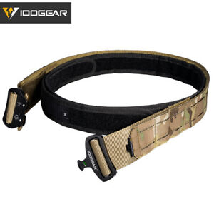 2 inch Laser Cutting Quick Release Buckle MOLLE Tactical Belt Outer & Inner Belt