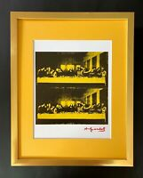 ANDY WARHOL + 1984 SIGNED LAST SUPPER POP ART MATTED TO BE FRAMED AT 11X14