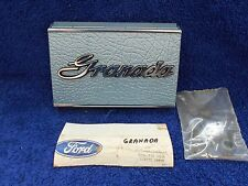 1975-76 FORD GRANADA  LIGHT BLUE  GAS / FUEL DOOR COVER  NOS FORD  1016