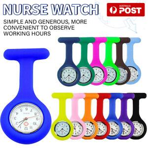 Silicone Nurse Watch Pocket Watch Pin Brooch Tunic Fob Nursing Nurses Pendant AU