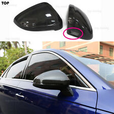 For 2017-UP Audi A4 S4 B9 A5 S5 Replacement W/Side Assist Mirror Caps Carbon Fib
