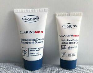 Clarins Men Shampoo & Shower + Active Hand Care Kits, Men's Skincare, Brand New