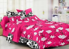 Homefab India 3D 140 TC Polycotton Double Bedsheet with 2 Pillow Covers