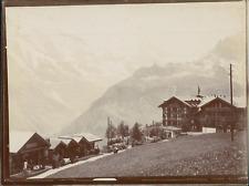 Suisse, Mürren, le Kurhaus, ca.1906, vintage citrate print Vintage citrate print