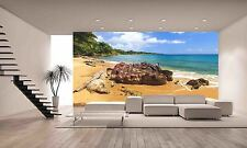 Beach rocks Wall Mural Photo Wallpaper GIANT DECOR Paper Poster Free Paste