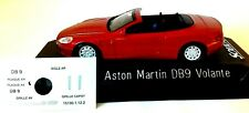 ASTON MARTIN DB9 VOLANTE 1/43 ROUGE SOLIDO COMME NEUVE DECALCOMANIE SOCLE SLMENT