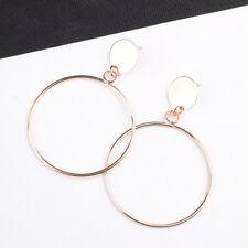 Women Big Circle Hook Drop Earrings Round Ear Stud Dangle Earrings Jewelry