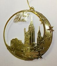 New York City Souvenir - Christmas Ornament Gold Plated Brass Souvenir