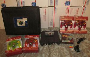Nintendo 64 Goldeneye Bundle Console N64 Blockbuster Rental Case System *READ*
