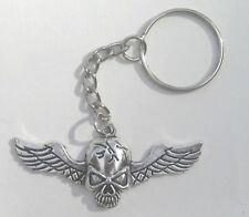 """Keychain with 1.25/"""" Gothic Skulls Button Approx.32mm"""