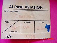 Alpine Aviation Luggage Interline Baggage to Denver