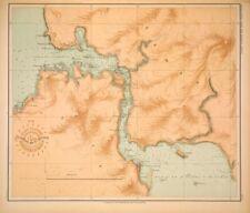 PHILIPPINE ISLANDS - LEYTE SAMAR STRAITS  1899 Original Antique Map
