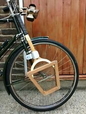 Vintage Bicycle - Tennis Racquet, Clip & Press - 1960's - Raleigh Sunbeam HUMBER