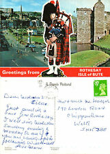 1990's DUAL VIEWS OF THE ISLE OF BUTE ARGYLE & BUTE POSTCARD POSTALLY USED