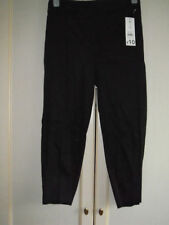Cotton Blend Mid Capri, Cropped Tapered Trousers for Women