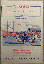 More details for wigan v leigh 1952/53 rugby league