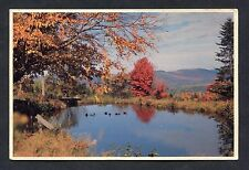 View of Fall at Upton, Maine, USA. Stamp/Postmark - 1988.