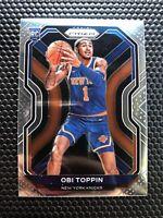 Obi Toppin Prizm Rookie 2021 New York Knicks True RC #280 2020-2021 Fresh Pull