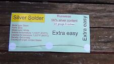 New Sterling Silver Jewelry Solder wire 8 inch of 22 of gauge X Easy melt 1200 °