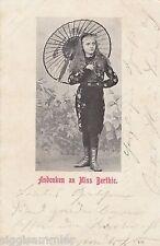 Andenken an Miss Berthie Ansichtskarte 1903 Zirkus Varieté Freaks 1607078