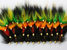 40Pcs Tube Flies Cone Heads Green/Orange Salmon And Sea Trout Fly Fishing H01-40