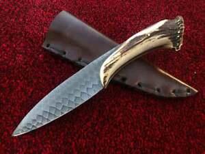 """CUSTOM HANDMADE D2 STEEL 12"""" HUNTING KNIFE, SKINNER KNIFE, BOWIE KNIFE, EDC KNIF"""