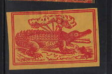 Ancienne   étiquette Allumettes Japon   AAA6328   Crocodile