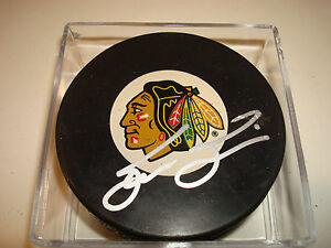Steve Smith Signed Chicago Blackhawks Hockey Puck Autographed #2 Go Blackhawks!