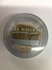 L'Oreal Bare Naturale Gentle Mineral Face Powder Soft Ivory #408 New.
