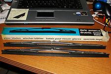 """ARTO#382/Dario Arman&Co.Torino Italy 14""""S/S Wiper Blades(2)Fiat Dino,Ferrari,5mm"""