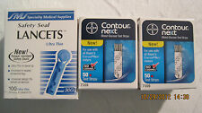 Bayer Contour Next Blood Glucose 100 Test Strips And 100 Lancets Exp:06/25/2019