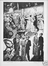 Social Graces - PEGGY BACON - 1930s Vintage Print