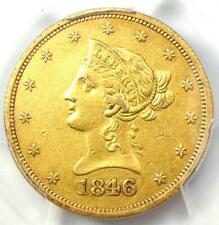 1846/5-O Liberty Gold Eagle $10 Overdate Coin - PCGS AU Detail - Rare Variety!