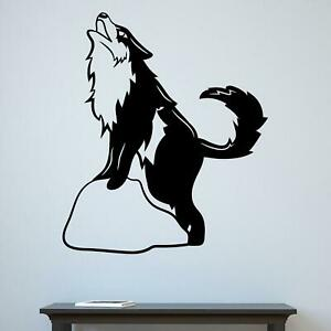 Cute Dog Howling Wall Sticker Decal  Quote Animal Husky Kids Bedroom Décor