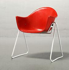 Walter Papst, Schalenstuhl Wilkhahn rot Kinderstuhl Child Chair Mid Century 50er