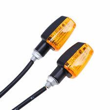 2Pcs LED Motorcycle Mini Turn Signal Light Blinker Indicator Lamp Amber