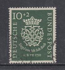 Germany Sc B314 used 1950 10pf + 2pf Seal of Johann Sebastian Bach cplt, VF